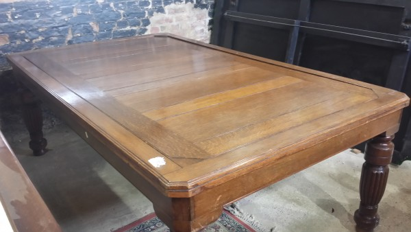 Antique Rollover Snooker Table Oak Browns Antiques