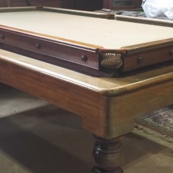 George Edwards antique mahogany 6ft snooker dining table