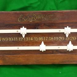 Riley antique snooker diner scoreboard