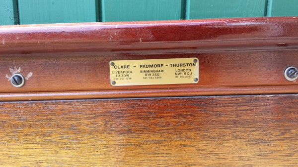 Vintage 7ft Snooker Or Pool Table Thurston Browns