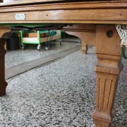 Riley 8ft antique oak snooker diner table square leg