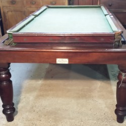 Geo Edwards mahogany rollover snooker diner table