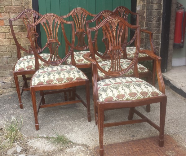 Set 0f 6 Vintage Mahogany Chairs Browns Antiques