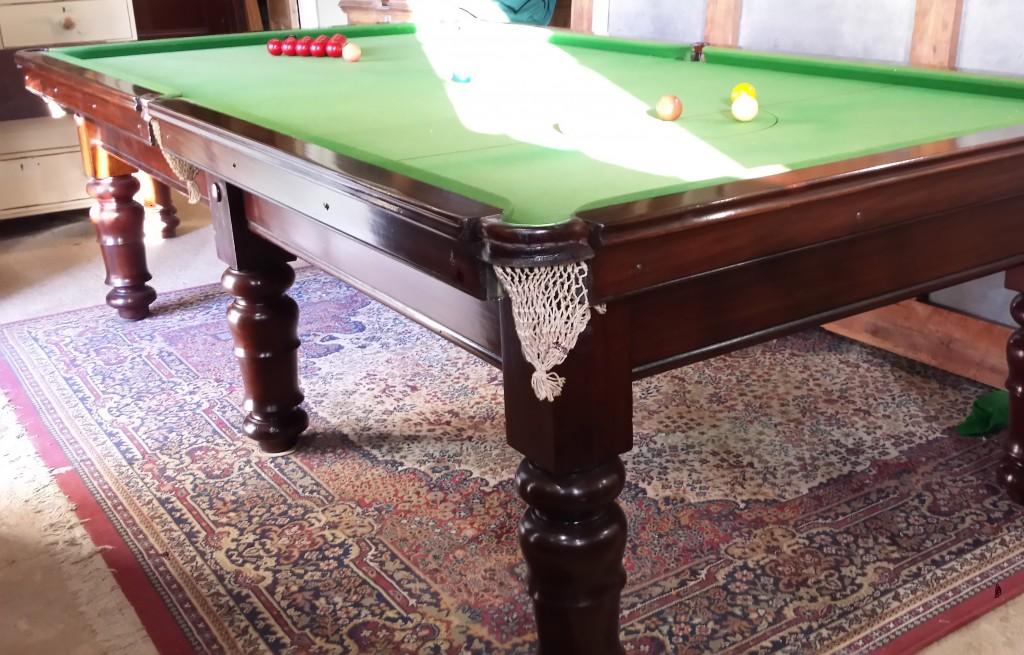 9ft antique mahogany billiard table