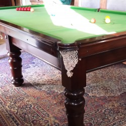 9ft antique mahogany billiard table