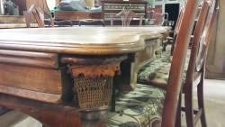 Serpentine snooker dining table in oak