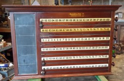 Burroughes and Watts six player rollerboard scoreboard