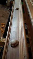 Full size antique billiards table restoration. Replacement cushion buttons.