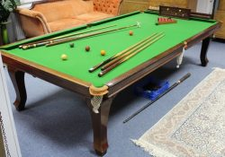 9ft Riley antique snooker dining table