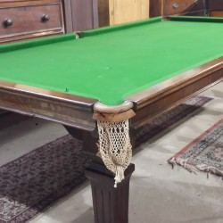 An 8ft Riley antique snooker diner with square leg