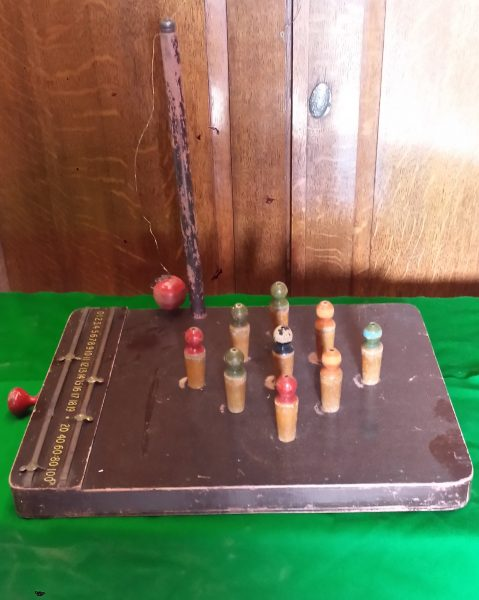 Vintage Table Skittles Game Browns Antiques Billiards