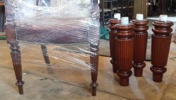 Restored snooker table to match chairs