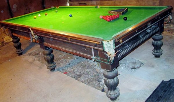 10ft tulip leg antique billiard table browns antiques for 10 foot snooker table