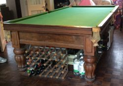 8ft antique snooker table