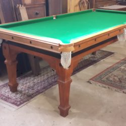 Square leg Riley 7ft antique snooker diner table