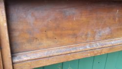 9ft Burroughes and Watts antique snooker table