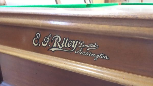 8ft Riley Mahogany Antique Snooker Table B729 Browns