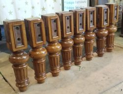 full size antique snooker table legs