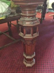 Carved Victorian dining table leg