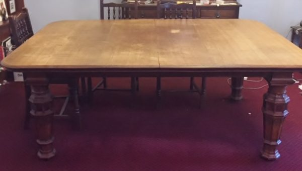 Large Victorian Extending Dining Table Carved Legs 10ft
