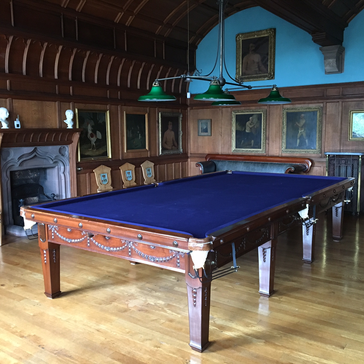 Restored Full Size Antique Snooker Table