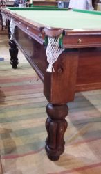 7ft Antique Mahogany snooker Table. Jelks. T