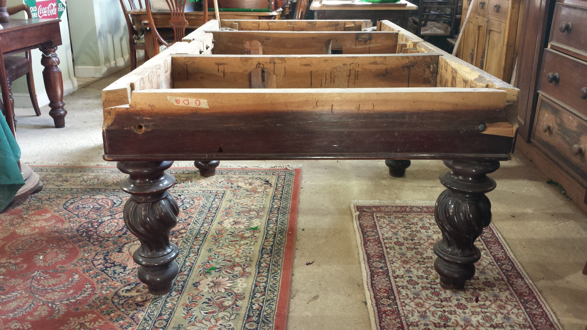 Restoring Antique Italian Pool Table Browns Antiques