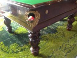 Restored antique Italian pool table