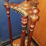 antique revolving cue stand c1890