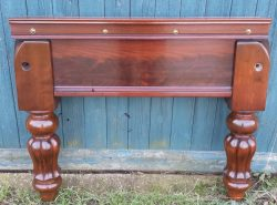 7ft antique snooker table tulip legs in mahogany Jelks.