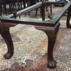 6ft snooker diner by riley in mahogany. with cabriole leg and ball and claw feet.