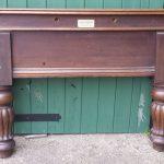 Antique 8ft oak billiard table by Howarth Nuttall