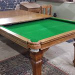 7ft Riley snooker dining table in oak