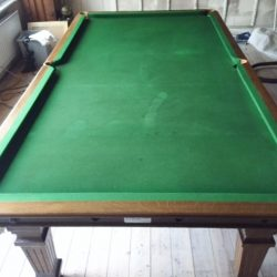 8ft oak Riley antique snooker dining table