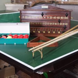 8ft snooker table mahogany Hamilton.