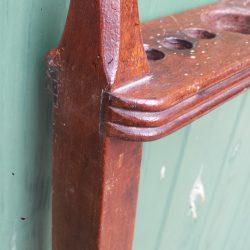 European mahogany antique cue rack