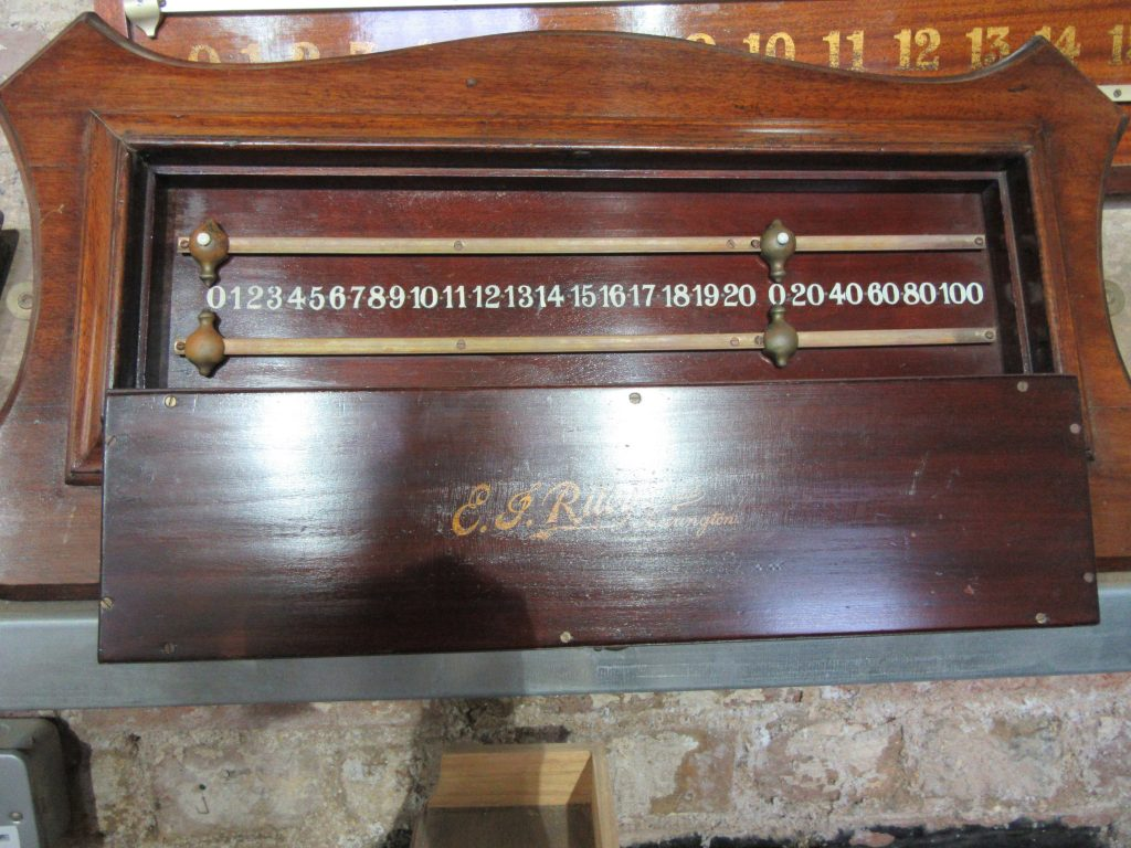 Riley antique snooker scoreboard