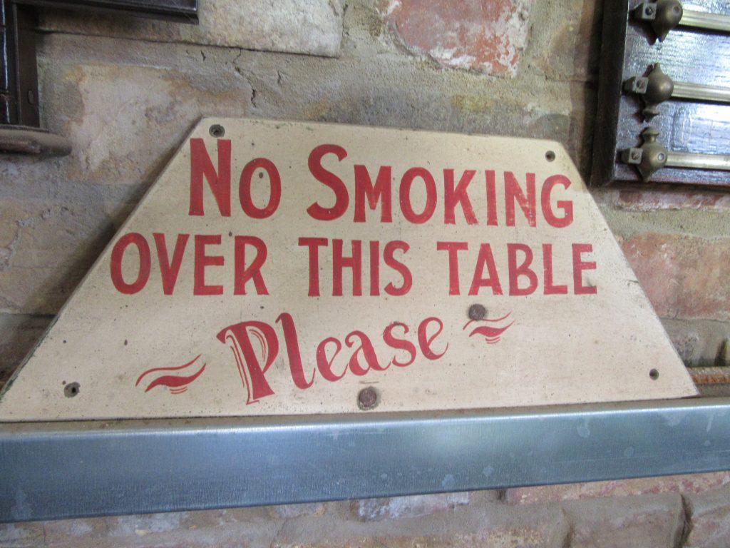 Browns Antiques, No Smoking Sign