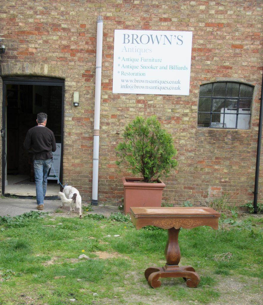 Browns Antiques billiards & Interiors showroom