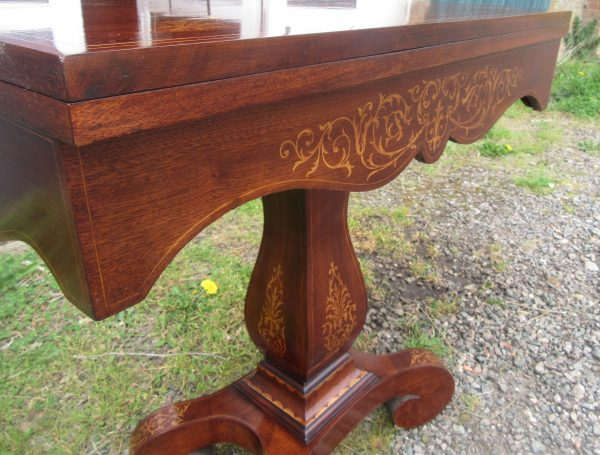 Antique Mahogany Cards Table Browns Antiques Billiards