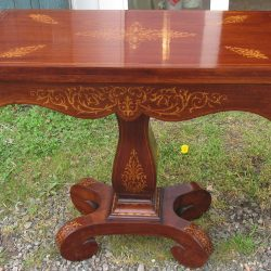 Antique Inlaid Mahogany Cards Table