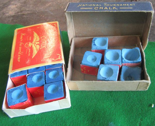National Tournament Billiard Chalk Boxed Browns