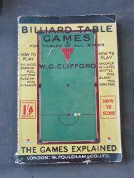 Vintage Billiard Table Games boo