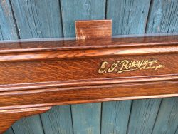 French polishing snooker table to match a colour sample