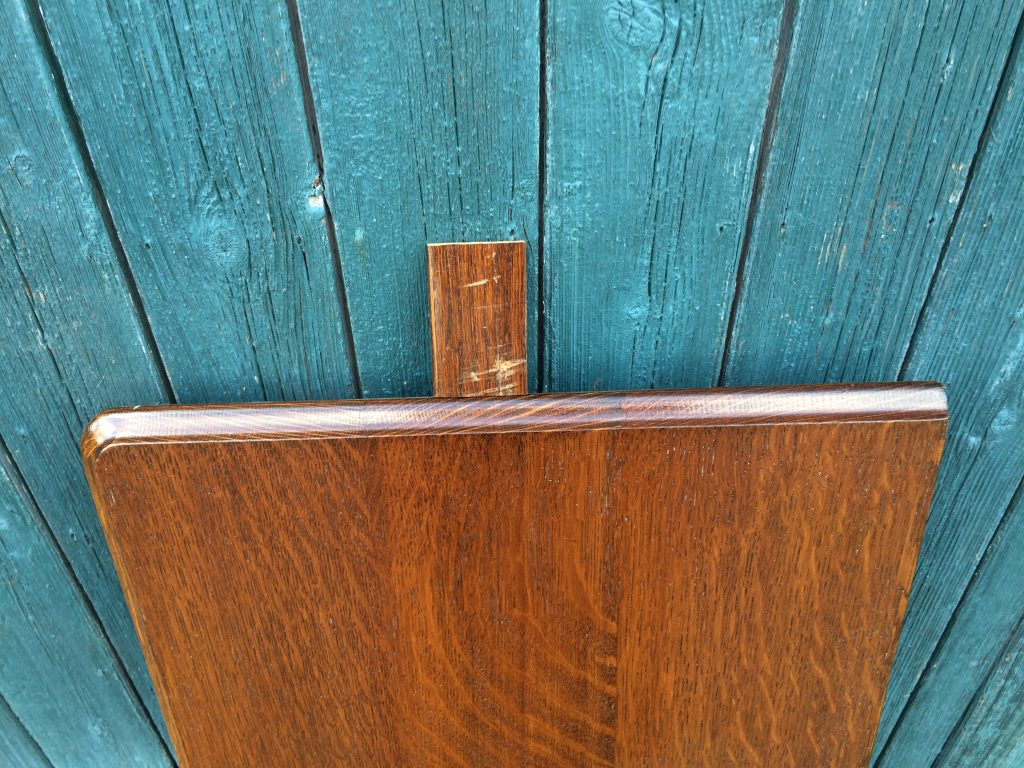 E J Riley antique snooker dining table leaf. Polished to match colour sample (on top).
