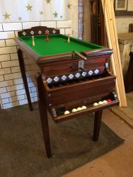Rare vintage bar billiards table with cannon