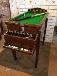 Rare vintage bar billiards table