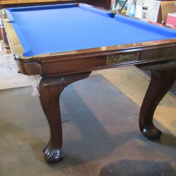 Antique snooker diner with cabriole leg and ball and claw feet.
