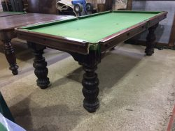 Geo Wright 7ft mahogany snooker diner with wind up mechanism