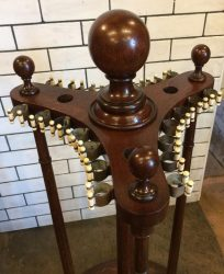Antique revolving cue stand. Burroughes and Watts.